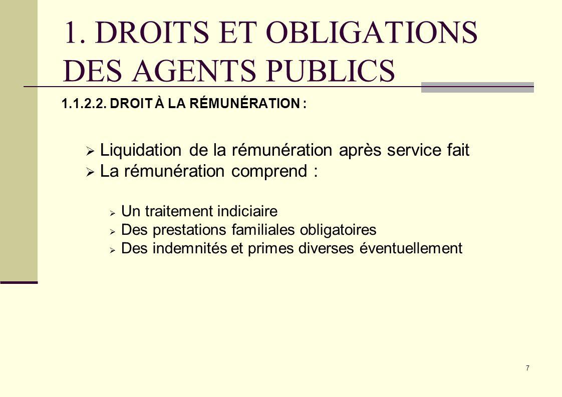 8.DROITS ET OBLIGATIONS DU DES AGENTS PUBLICS 1.1.2.3.
