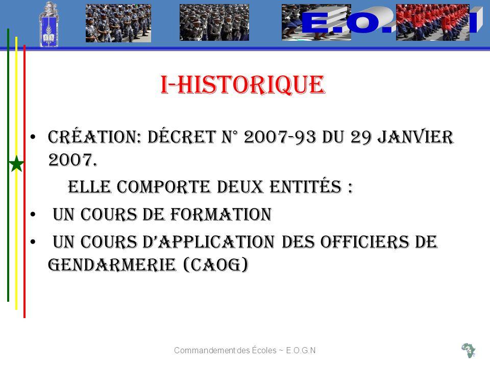 Création: décret n° 2007-93 du 29 Janvier 2007.