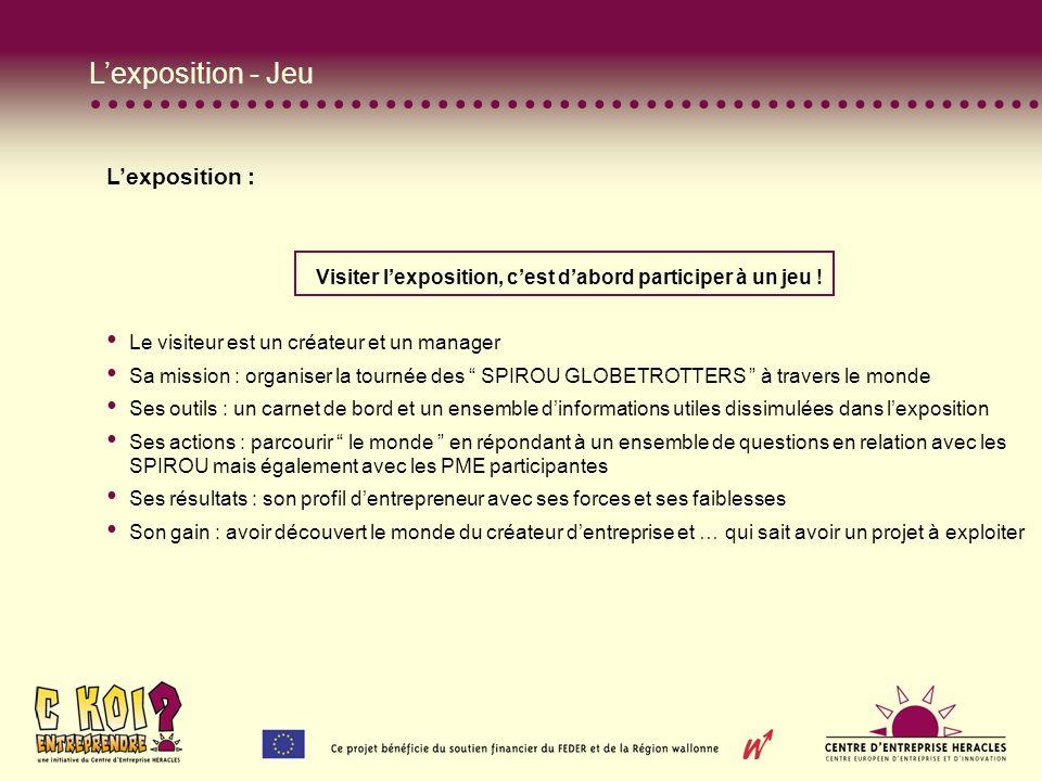 Lexposition - Jeu Lexposition : Visiter lexposition, cest dabord participer à un jeu .