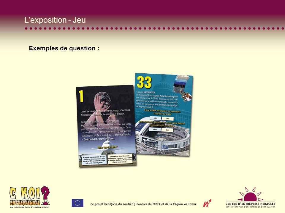 Lexposition - Jeu Exemples de question :