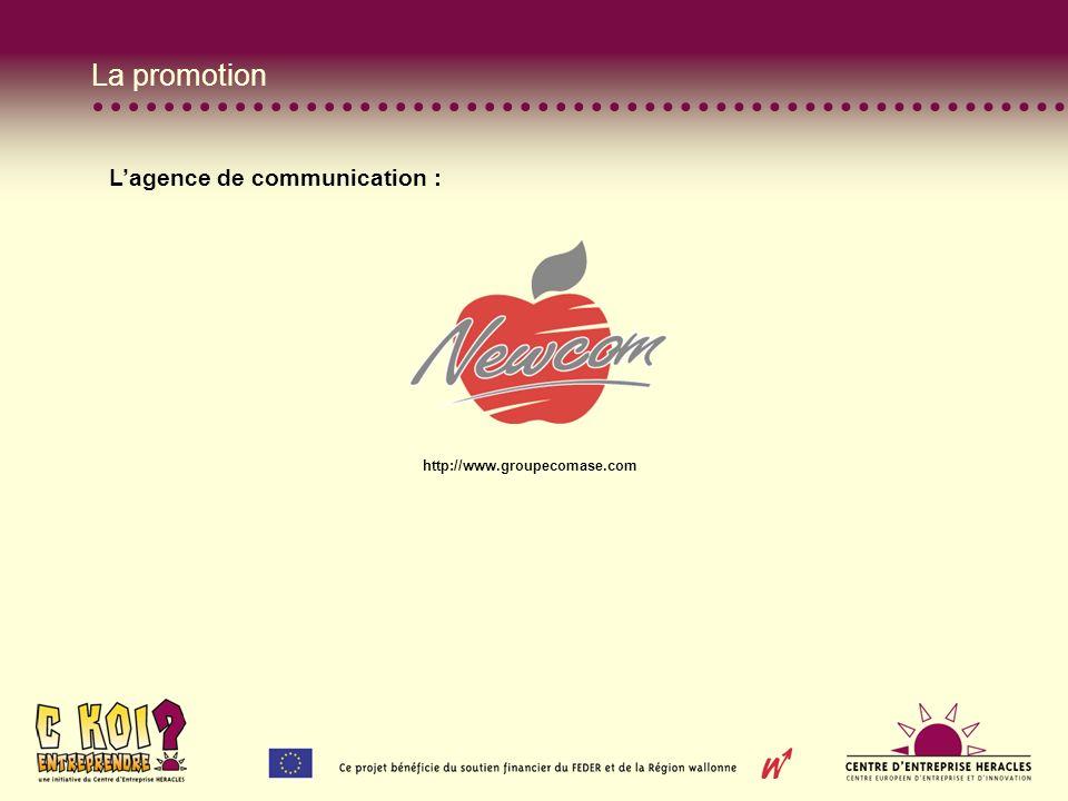 La promotion Lagence de communication : http://www.groupecomase.com