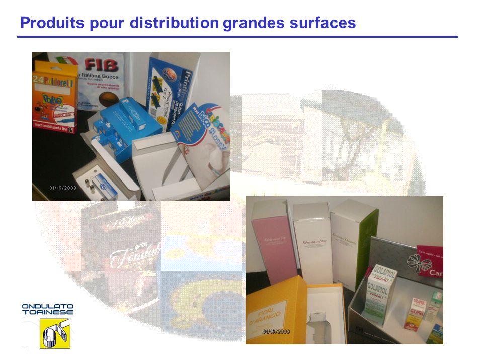 Produits pour distribution grandes surfaces