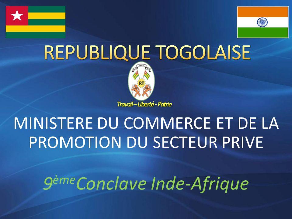 MINISTERE DU COMMERCE ET DE LA PROMOTION DU SECTEUR PRIVE 9 ème Conclave Inde-Afrique