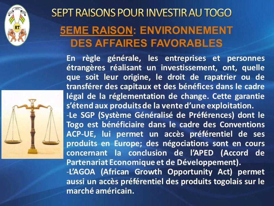 En règle générale, les entreprises et personnes étrangères réalisant un investissement, ont, quelle que soit leur origine, le droit de rapatrier ou de