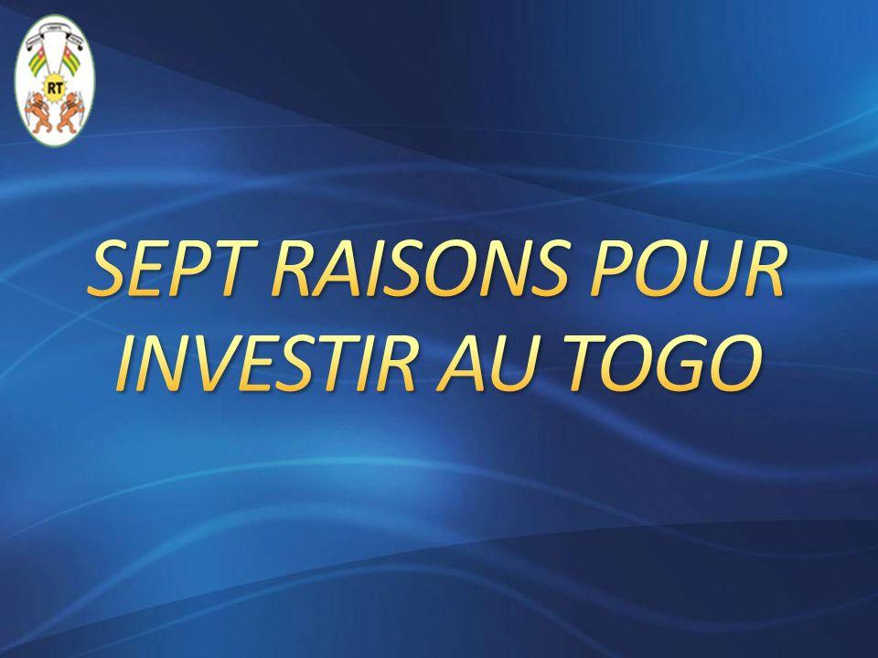 Le Togo est un pays de paix et de stabilité offrant ainsi à tout investisseur une quiétude personnelle et à ses capitaux investis une sécurité.