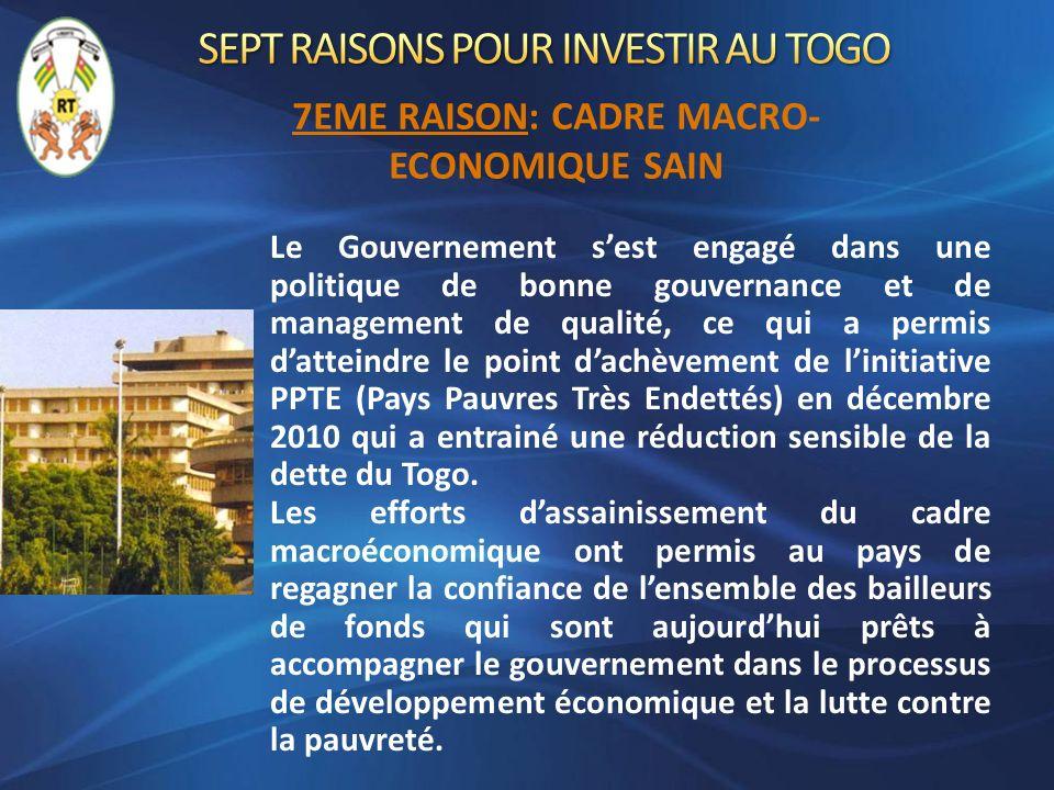 Le Gouvernement sest engagé dans une politique de bonne gouvernance et de management de qualité, ce qui a permis datteindre le point dachèvement de li