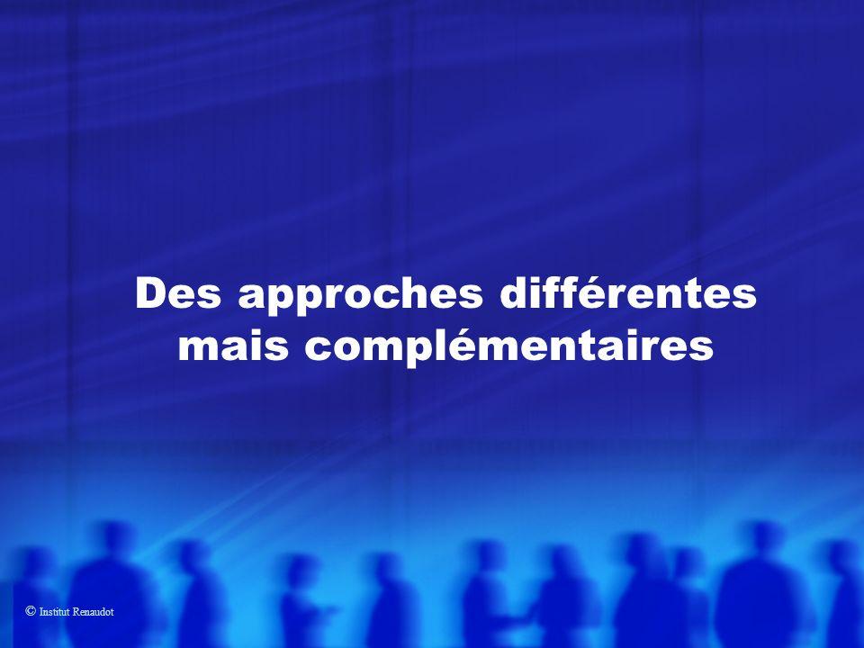 © Institut Renaudot Des approches différentes mais complémentaires