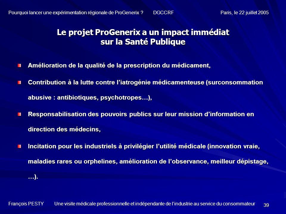39 Amélioration de la qualité de la prescription du médicament, Contribution à la lutte contre liatrogénie médicamenteuse (surconsommation abusive : a