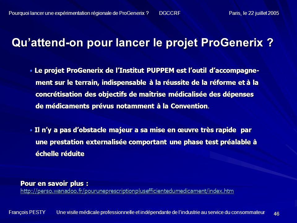 46 Le projet ProGenerix de lInstitut PUPPEM est loutil daccompagne- Le projet ProGenerix de lInstitut PUPPEM est loutil daccompagne- ment sur le terra