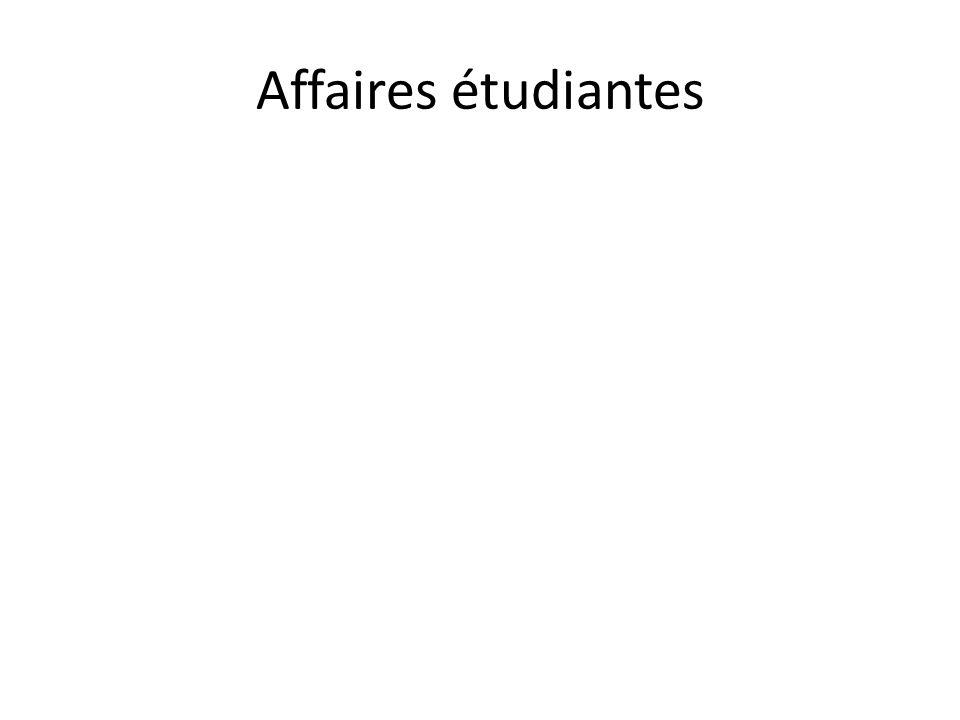 Affaires étudiantes