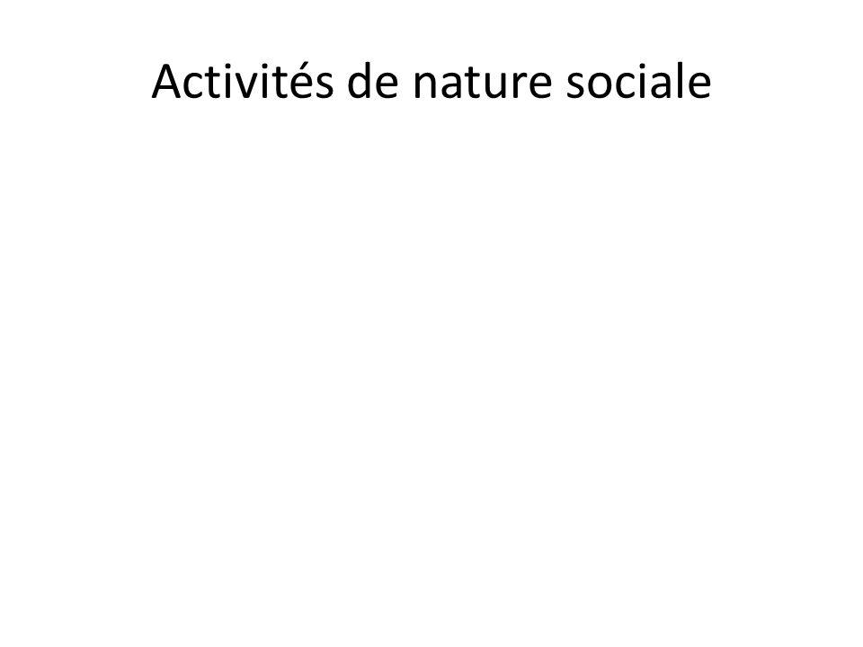 Activités de nature sociale