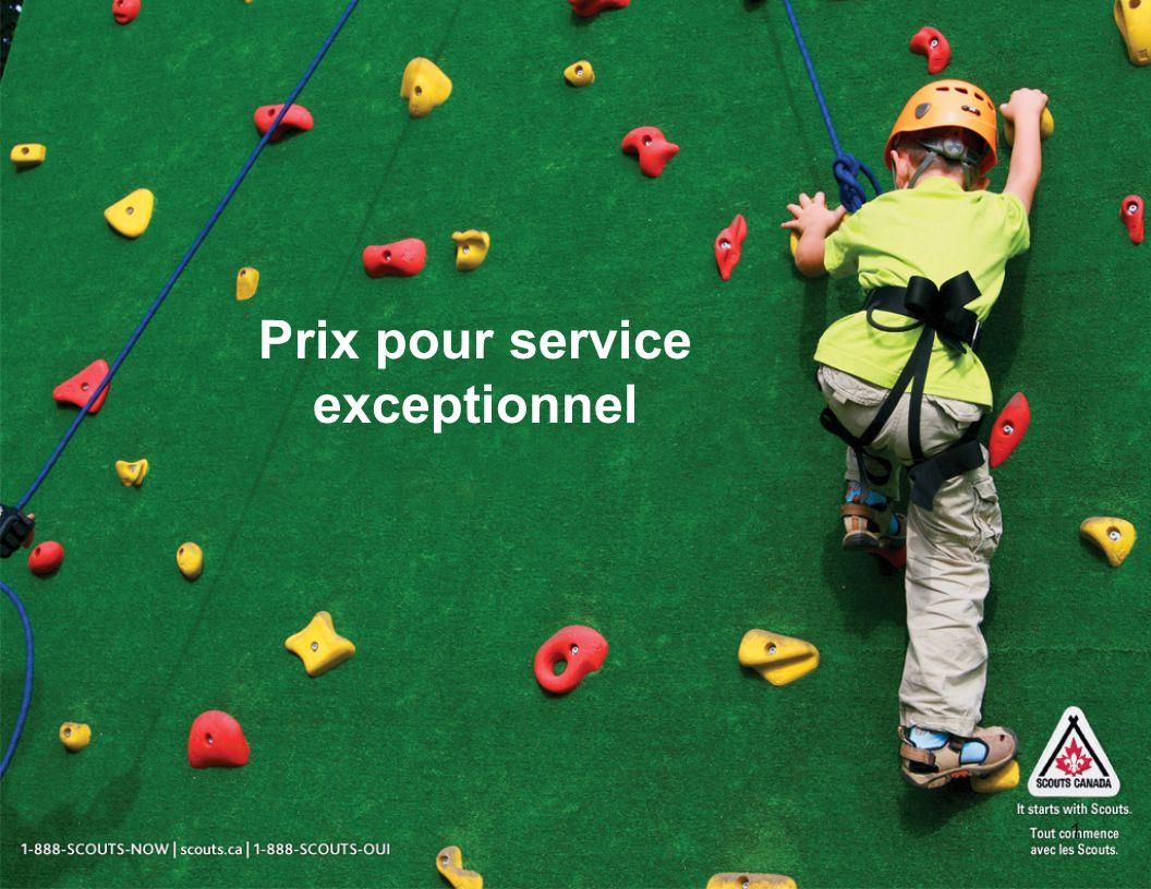 1 Prix pour service exceptionnel