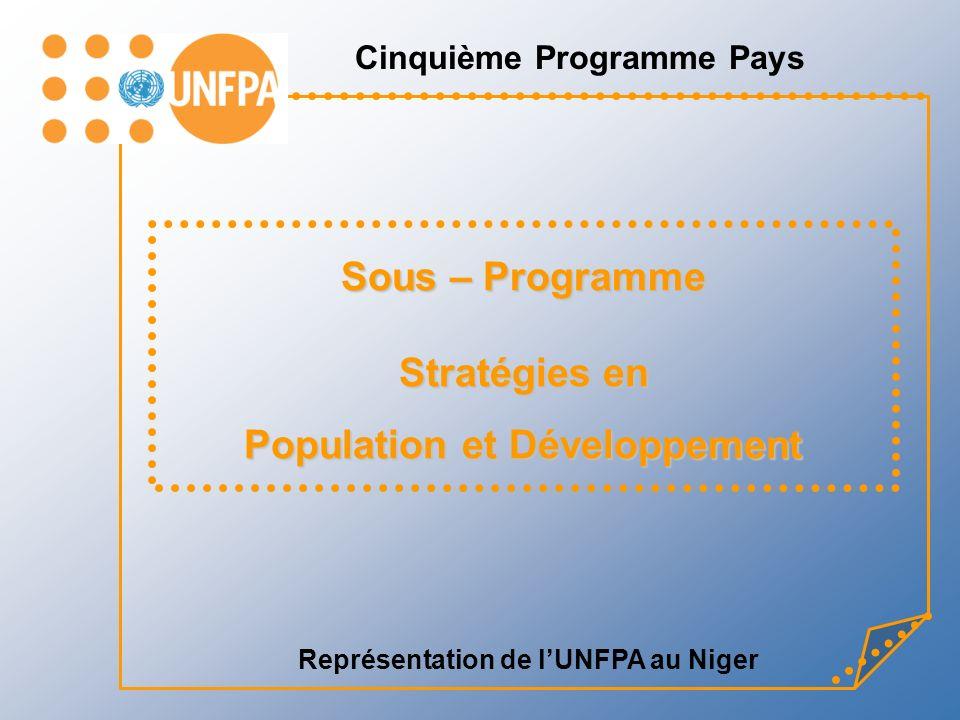 Représentation de lUNFPA au Niger Sous – Programme Stratégies en Population et Développement Cinquième Programme Pays