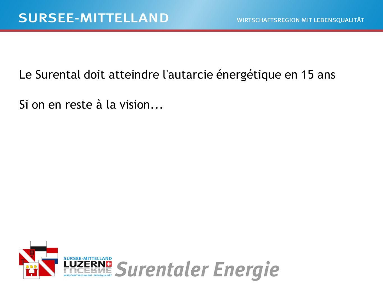 Le Surental doit atteindre l autarcie énergétique en 15 ans Si on en reste à la vision...