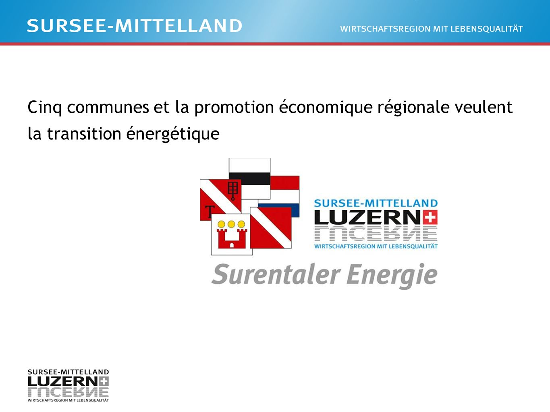 Cinq communes et la promotion économique régionale veulent la transition énergétique