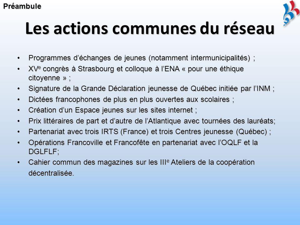 Une mission actualisée France-Québec et Québec-France sont des associations autonomes, non partisanes, formant un réseau unique.