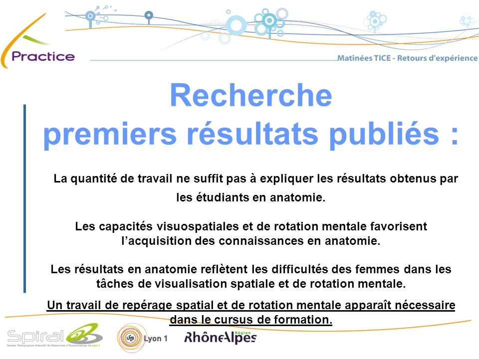 Recherche premiers résultats publiés : La quantité de travail ne suffit pas à expliquer les résultats obtenus par les étudiants en anatomie.