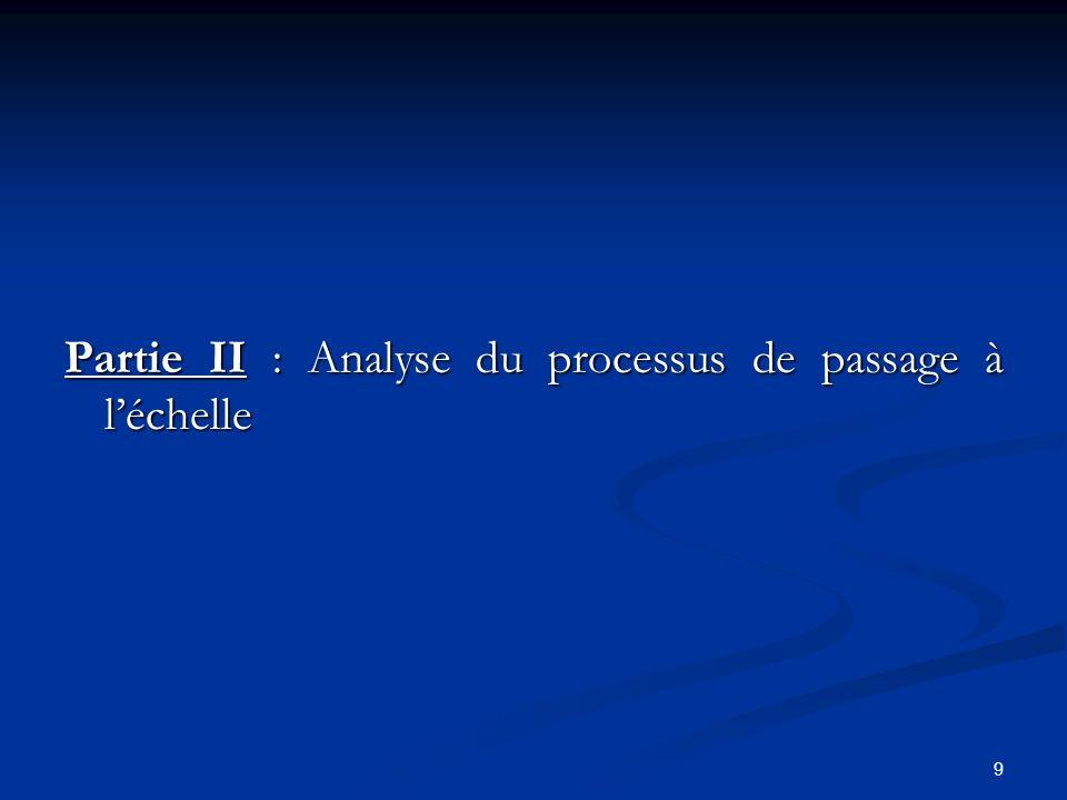 9 Partie II : Analyse du processus de passage à léchelle