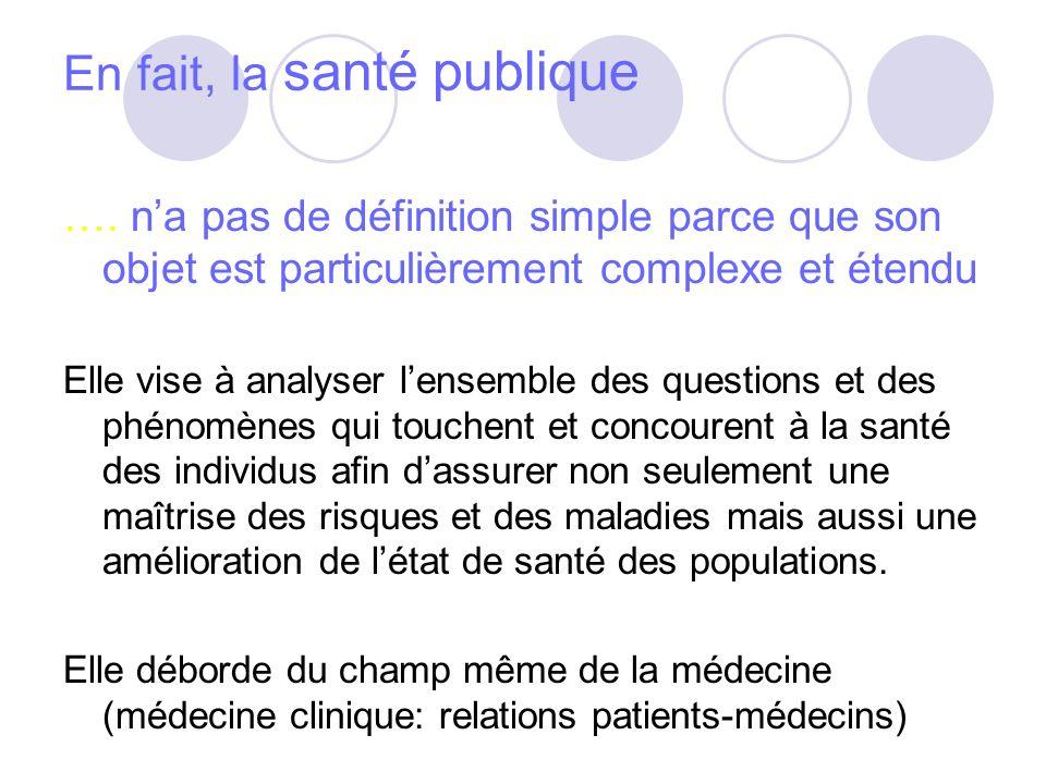 La SP et lépidémiologie - Après guerre, développement de lépidémiologie = discipline médicale sur laquelle la SP a fondé sa démarche dont loutil principal est les statistiques