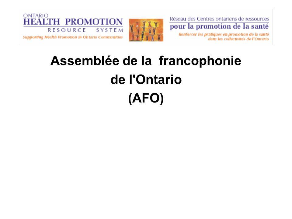 Assemblée de la francophonie de l'Ontario (AFO)