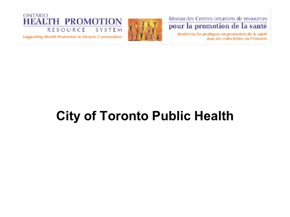 City of Toronto Public Health