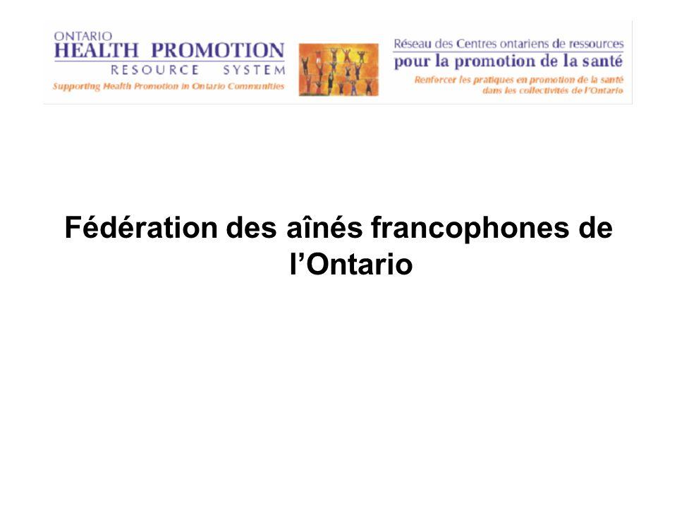 Fédération des aînés francophones de lOntario