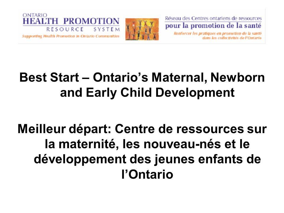 Ontario Healthy Communities Coalition (OHCC) Coalition des communautés en santé de lOntario (CCSO)