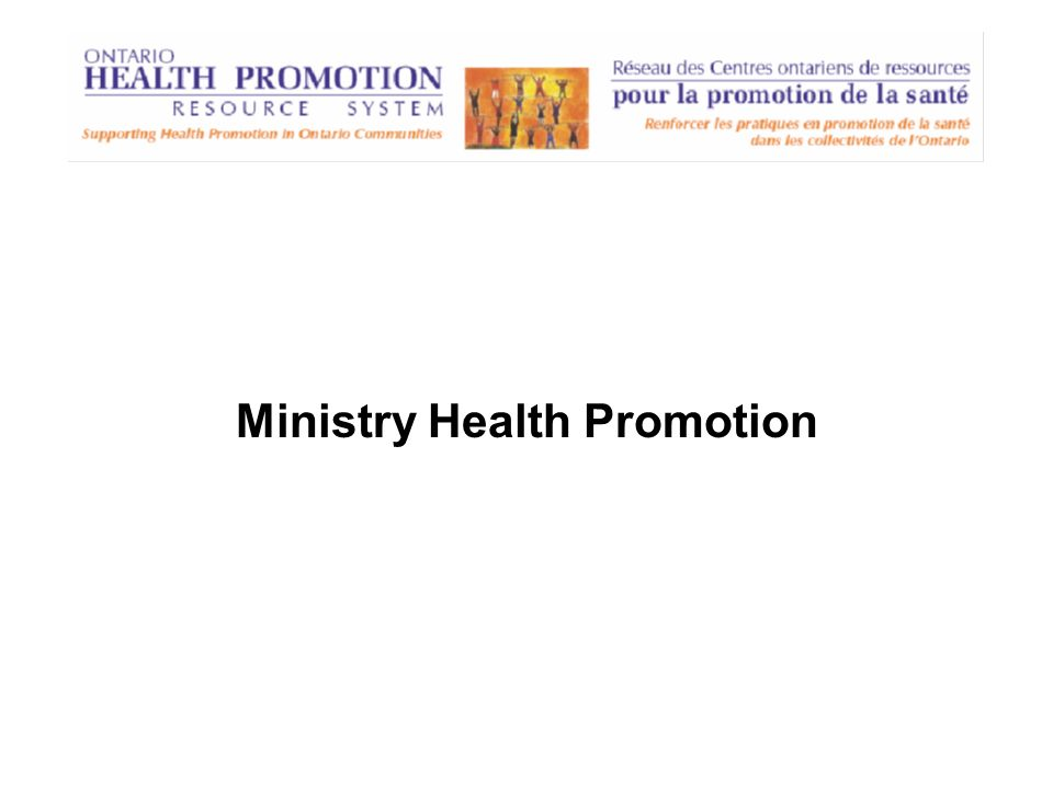 Ministry Health Promotion