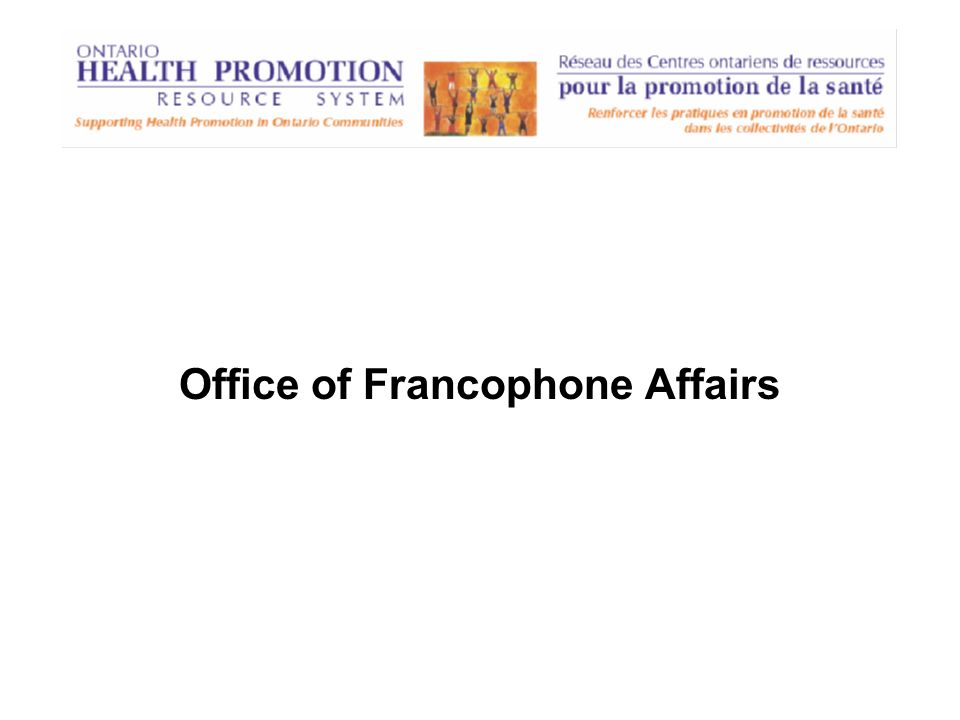 Office of Francophone Affairs