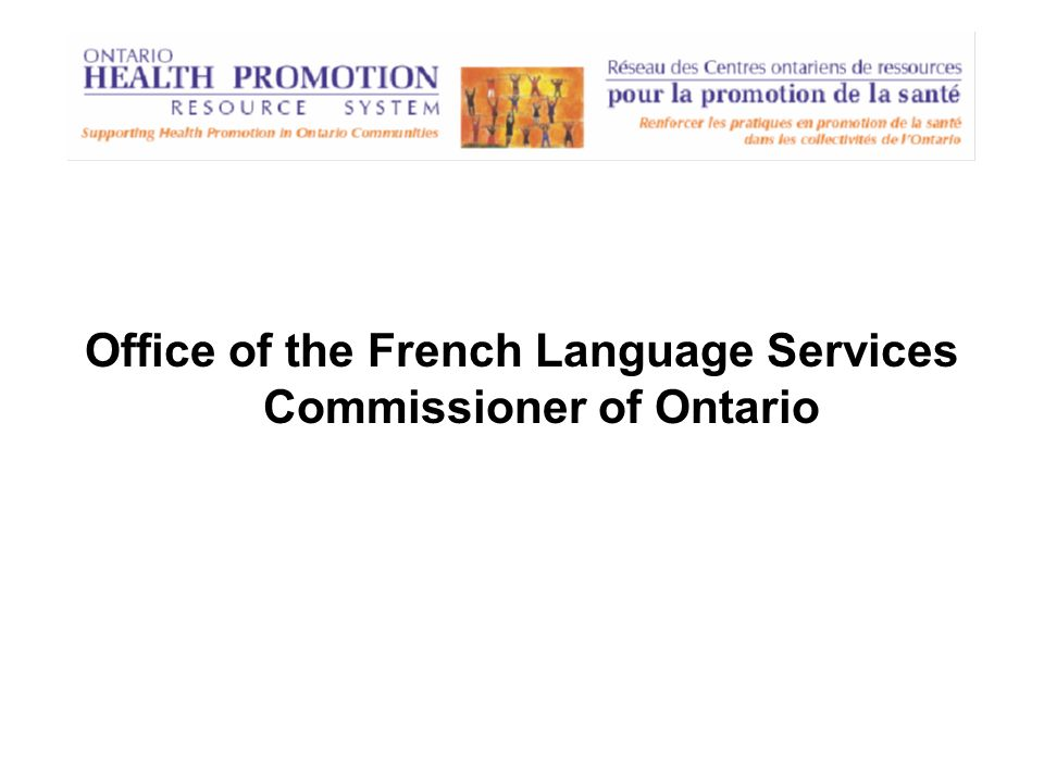 Office of the French Language Services Commissioner of Ontario