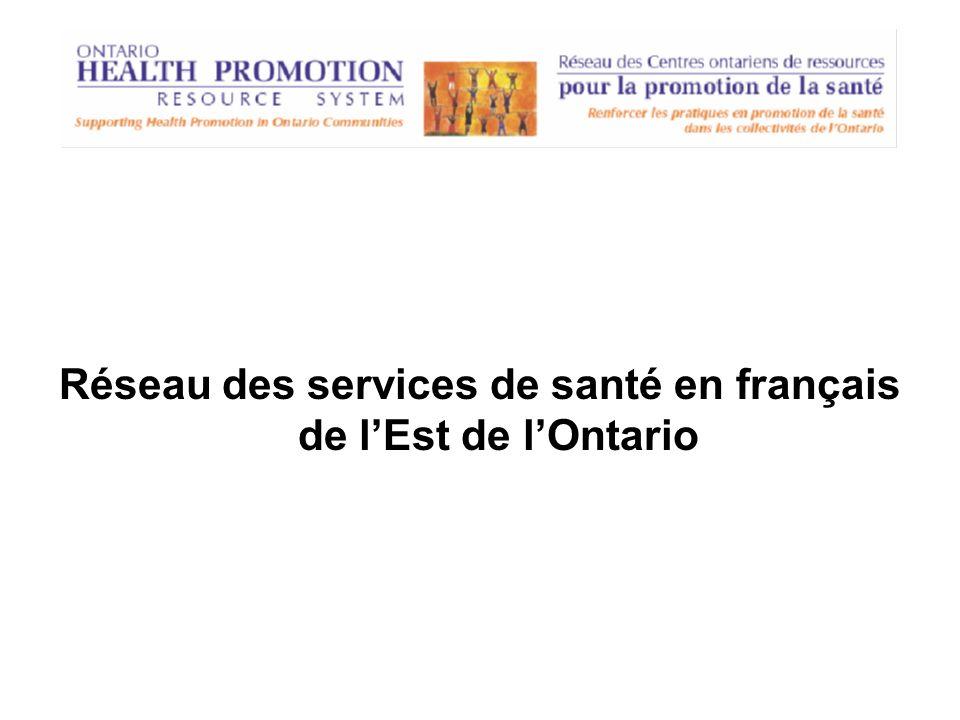 Réseau des services de santé en français de lEst de lOntario