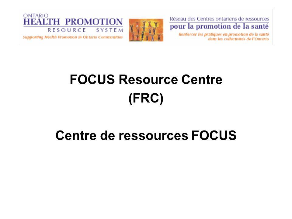 Program Training & Consultation Centre (PTCC) Centre de formation et de consultation (CFC)