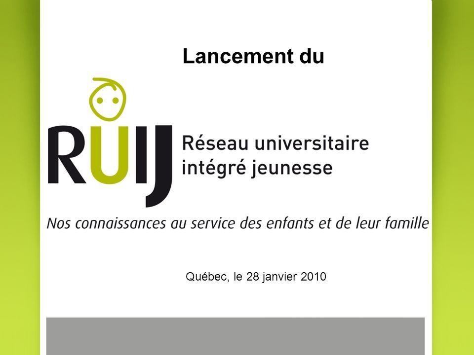 Lancement du Québec, le 28 janvier 2010