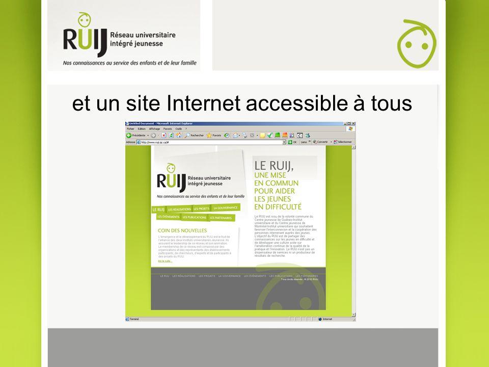 et un site Internet accessible à tous