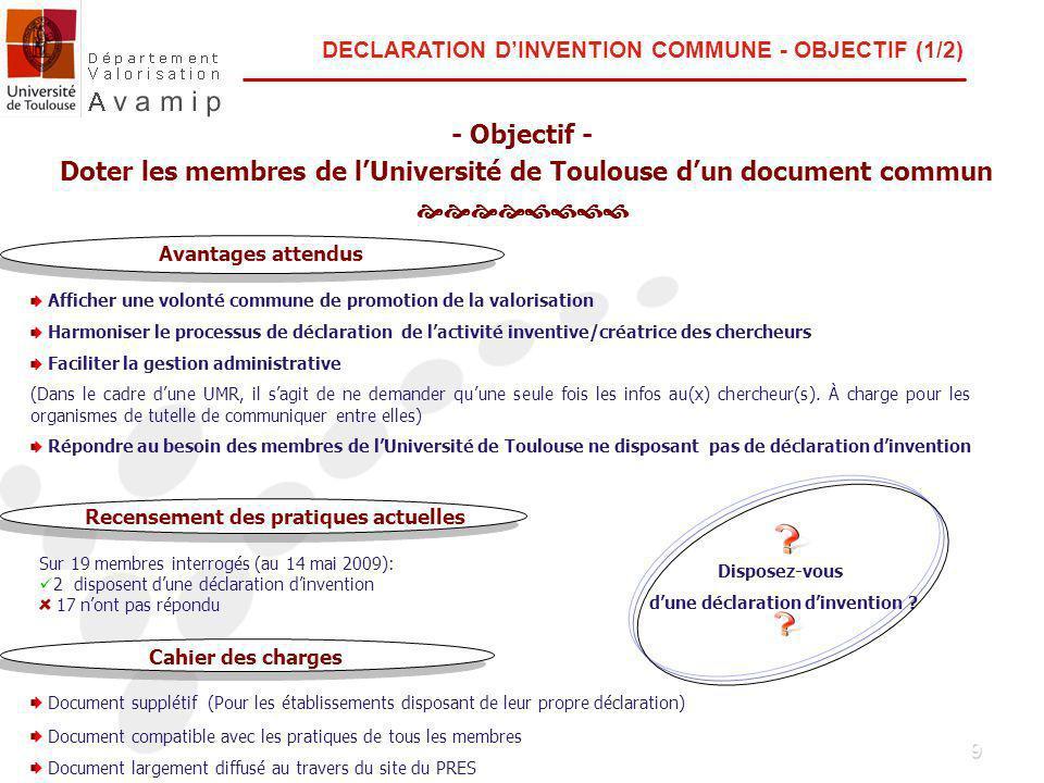 10 DECLARATION DINVENTION COMMUNE - DOCUMENT (2/2) Informations demandées -………… -………….