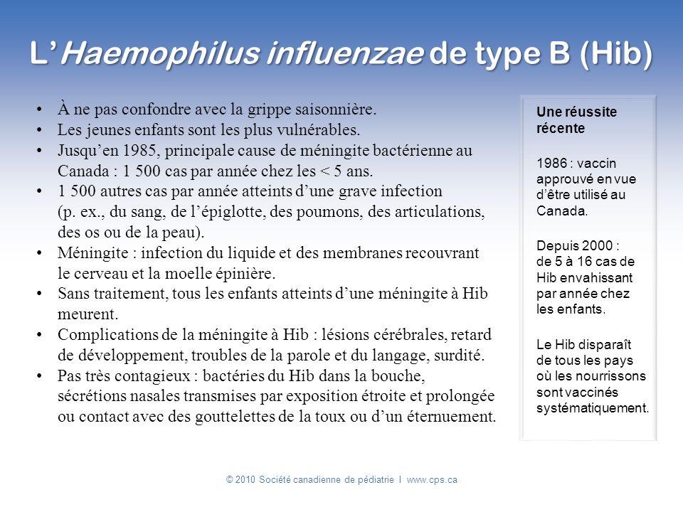 À ne pas confondre avec la grippe saisonnière. Les jeunes enfants sont les plus vulnérables. Jusquen 1985, principale cause de méningite bactérienne a