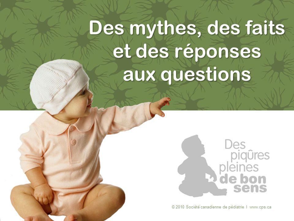 Des mythes, des faits et des réponses aux questions © 2010 Société canadienne de pédiatrie I www.cps.ca