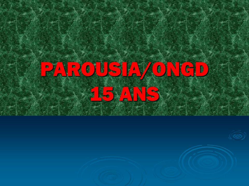PAROUSIA/ONGD 15 ANS