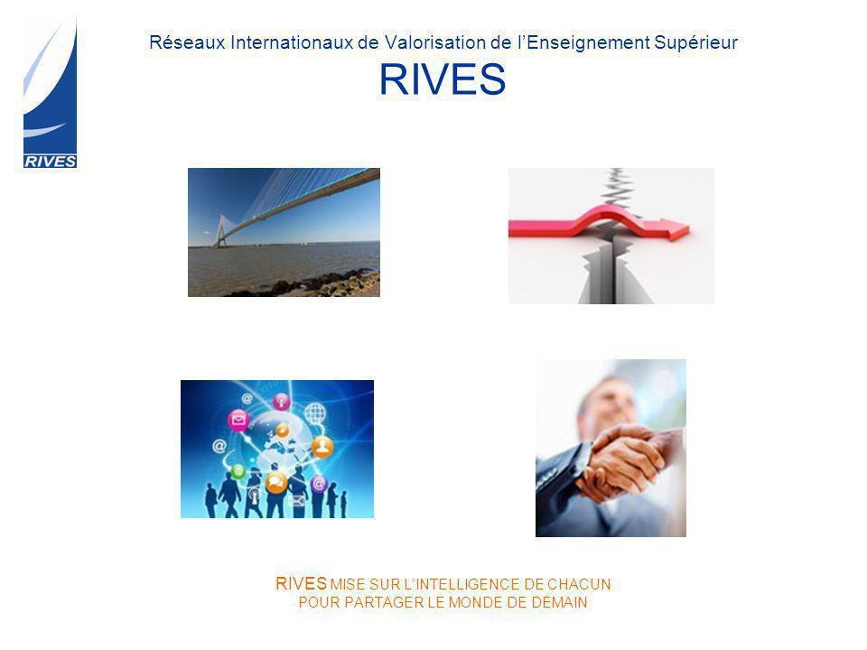 Réseaux Internationaux de Valorisation de lEnseignement Supérieur RIVES RIVES MISE SUR LINTELLIGENCE DE CHACUN POUR PARTAGER LE MONDE DE DEMAIN