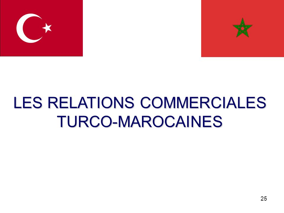 25 LES RELATIONS COMMERCIALES TURCO-MAROCAINES