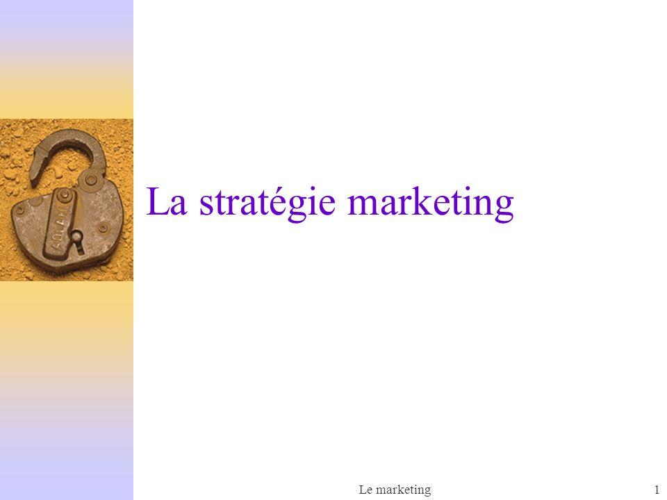 Le marketing1 La stratégie marketing