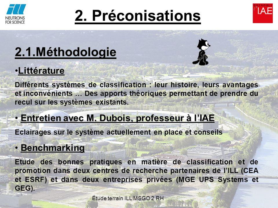 2. Préconisations 2.1.Méthodologie LittératureLittérature Différents systèmes de classification : leur histoire, leurs avantages et inconvénients … De