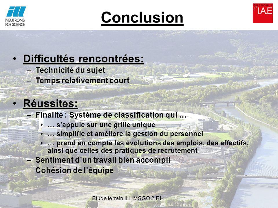 Conclusion Difficultés rencontrées:Difficultés rencontrées: –Technicité du sujet –Temps relativement court Réussites:Réussites: –Finalité : Système de