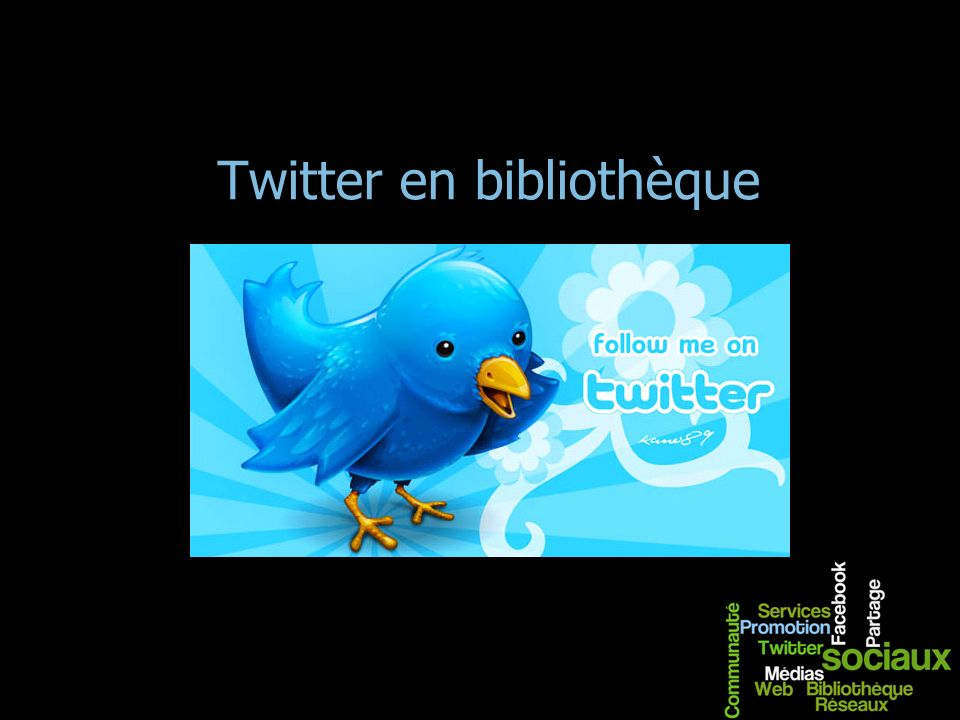 Twitter en bibliothèque