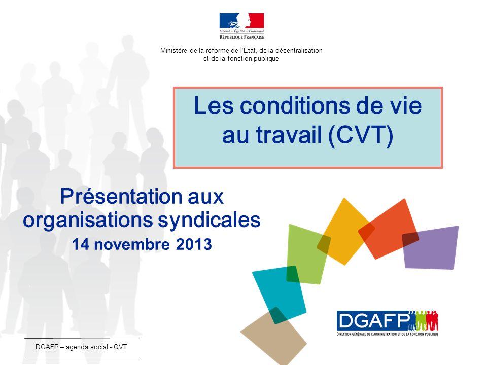 12/13 Deux séances de concertation en 2013 : 26 février 2013 - état des lieux et bilan chiffré de la FPTLV depuis 2007 (déclinaison du protocole du 21 novembre 2006), 8 avril 2013 - des propositions regroupées en trois thèmes : - faire de la FPTLV un sujet de dialogue social, - améliorer laccès des agents à la FPTLV, - développer les qualifications des agents.