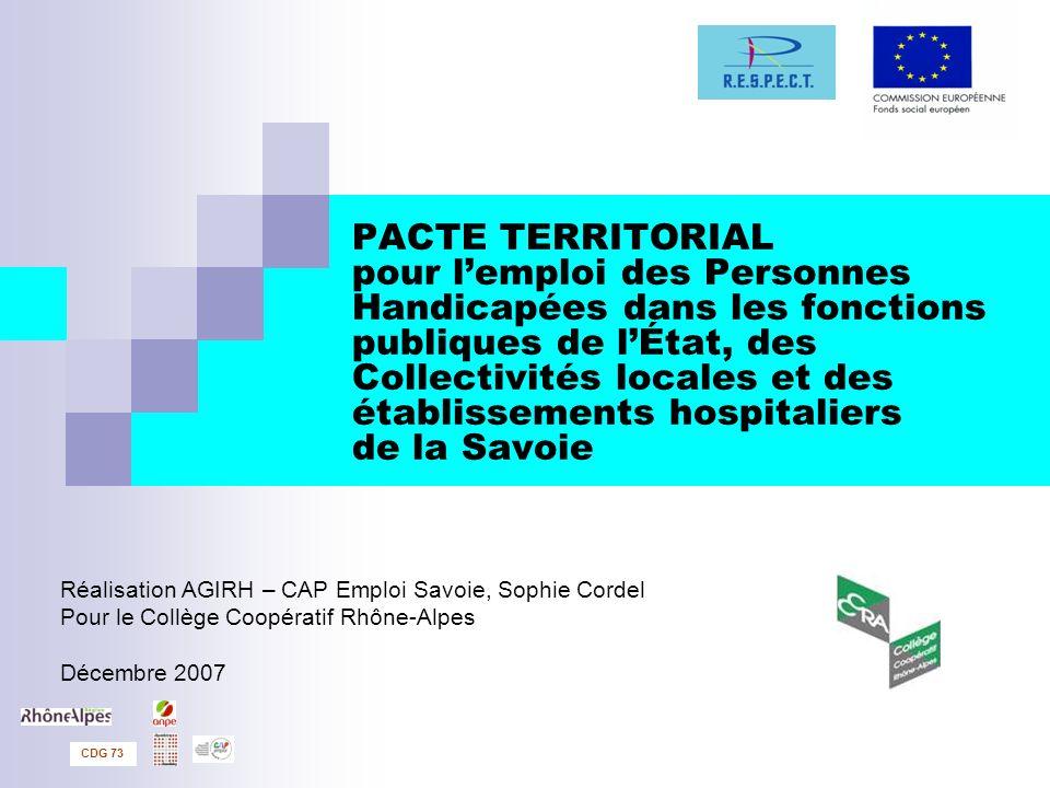 PACTE TERRITORIAL pour lemploi des Personnes Handicapées dans les fonctions publiques de lÉtat, des Collectivités locales et des établissements hospit