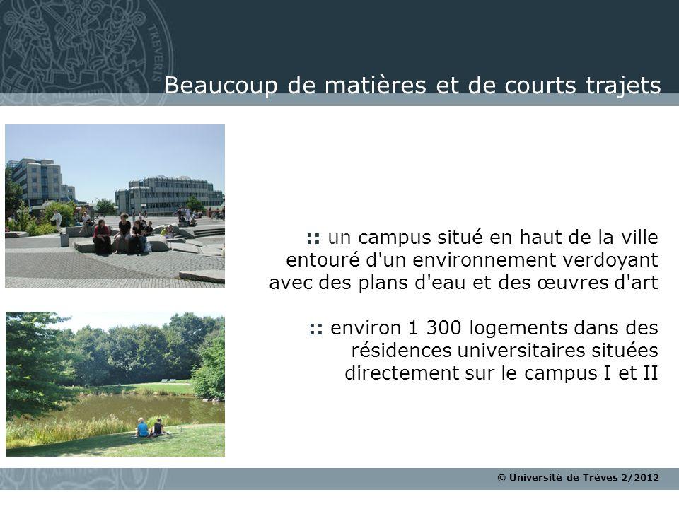 © Université de Trèves 2/2012 :: un campus situé en haut de la ville entouré d'un environnement verdoyant avec des plans d'eau et des œuvres d'art ::
