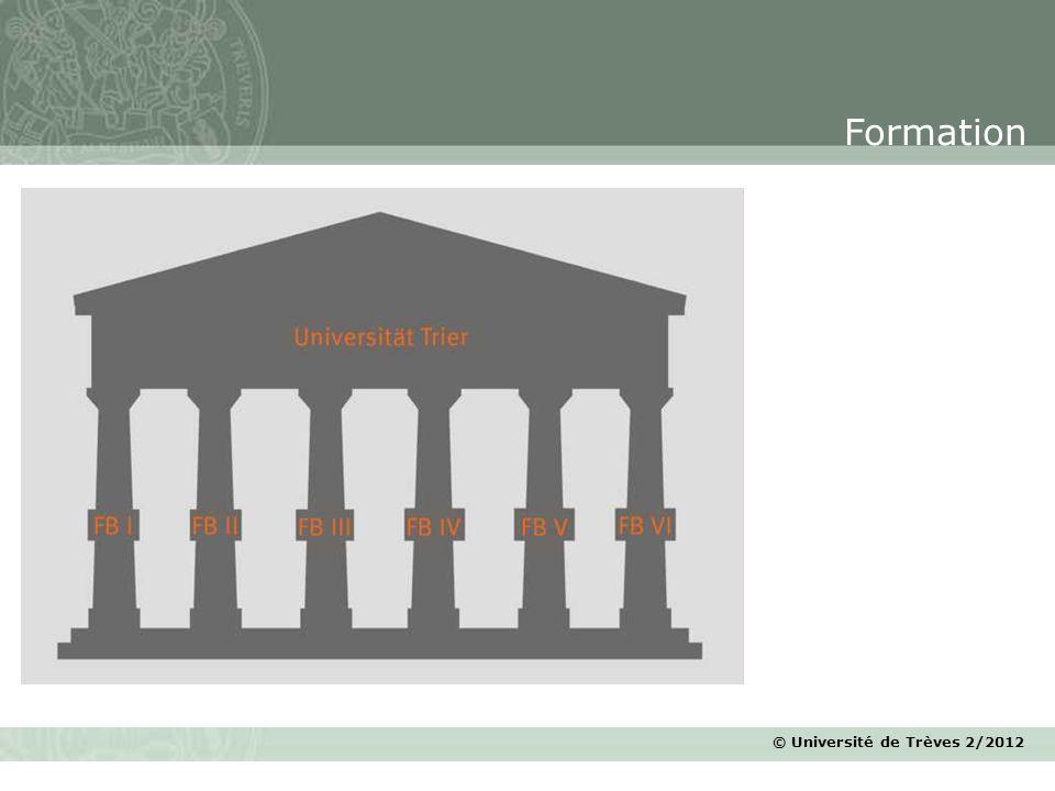 © Université de Trèves 2/2012 Formation