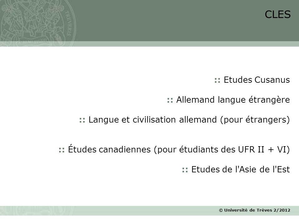 © Université de Trèves 2/2012 :: Etudes Cusanus :: Allemand langue étrangère :: Langue et civilisation allemand (pour étrangers) :: Études canadiennes