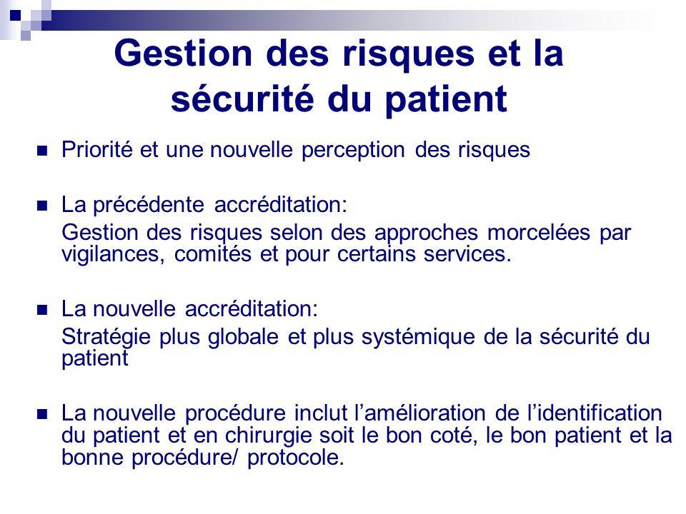 Stratégies selon lévidence Systémique – Non blâmes Culture sécurité - Implication de tous les acteurs dont les patients Stratégies préventives et stra